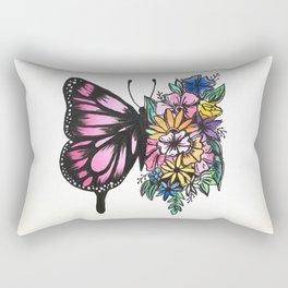 Blossoming Butterfly Rectangular Pillow