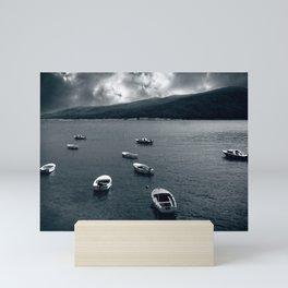 Sunset at sea Mini Art Print