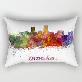 Omaha skyline in watercolor Rectangular Pillow