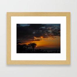 Hawaii Sunset Framed Art Print