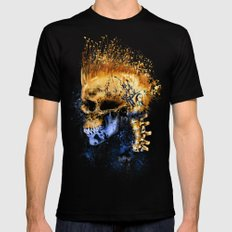 Golden Skull X-LARGE Black Mens Fitted Tee