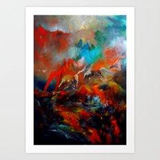 Kızıl Atlar Art Print