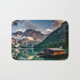 Italian Mountains Lake Landscape Photo Bath Mat