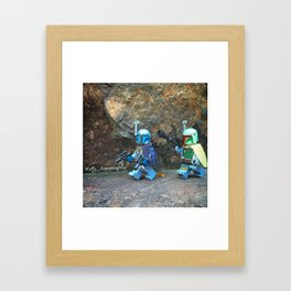 Jango And Boba Fett Bounty Hunting Framed Art Print