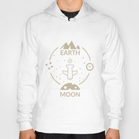 aviation Hoodies featuring Aviation: Earth to Moon by Gemaniq