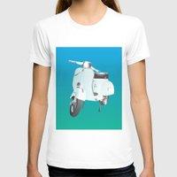 vespa T-shirts featuring Vespa by Frivolous Designs