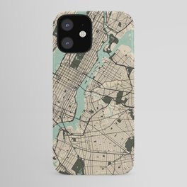 New York City Map of the United States - Vintage iPhone Case