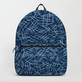 Classic Blue Scratches Backpack