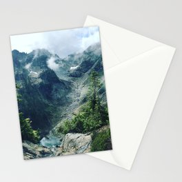 Mountain through the clouds Stationery Cards