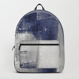 navy blue abstract Backpack