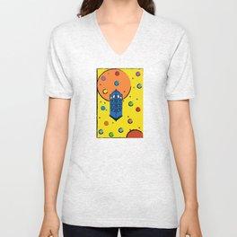 Pop Art Tardis Unisex V-Neck
