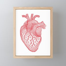 abstract red heart Framed Mini Art Print