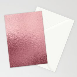 Pure Rose Gold Pink Stationery Cards