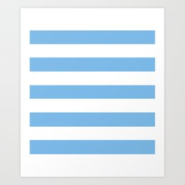 Aero - solid color - white stripes pattern Art Print