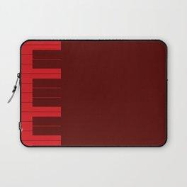 Red Piano Keys Laptop Sleeve