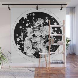 Three cats Wall Mural