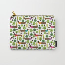 Dachshunds On A Walk In The Park Carry-All Pouch