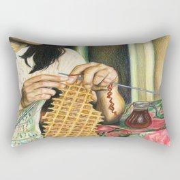Knitting Waffles Rectangular Pillow