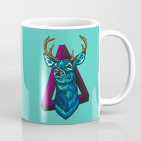 stag Mugs featuring Stag   by Cristina Moore