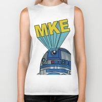 milwaukee Biker Tanks featuring Milwaukee: R2D2 MKE by Amanda Iglinski