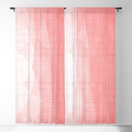In The Flow - Geometric Minimalist Living Coral Blackout Curtain