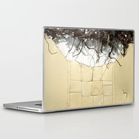 leather Laptop & iPad Skins featuring Vine & Leather by Peta Sun Fire