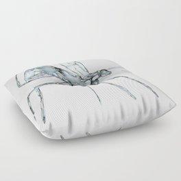 Mosquito, Watercolor Floor Pillow