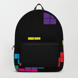 Tetris on black Backpack