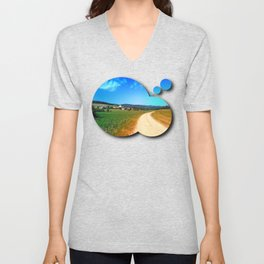 Another lonely hiking trail Unisex V-Neck