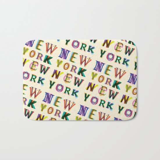New York New York Bath Mat