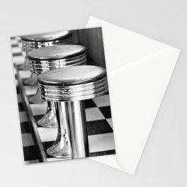 VINTAGE DINER BAR STOOLS - BYGONE ERA - MID CENTURY CHIC Stationery Cards