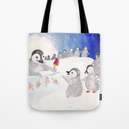 Penguin Ice Cream Stand Tote Bag