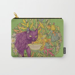 cat and green milk light Carry-All Pouch