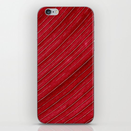 red leaf I iPhone & iPod Skin