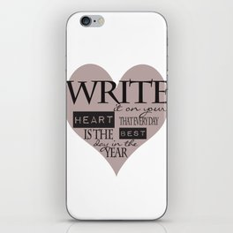 Write It On Your Heart Design iPhone Skin