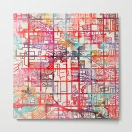 Stanton map California CA Metal Print