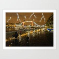 Lightning In London Art Print