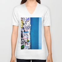 urban V-neck T-shirts featuring Urban by Maite Pons