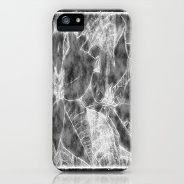 Poinsettias Outlined Black iPhone Case