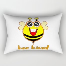Bee Kind Cute Bumble Anti Bullying Funny Bumblebee For Kids Rectangular Pillow