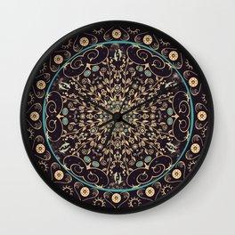 Deep Purple Sky Mandala Wall Clock