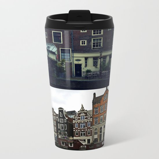 Photo collage Amsterdam 3 Metal Travel Mug