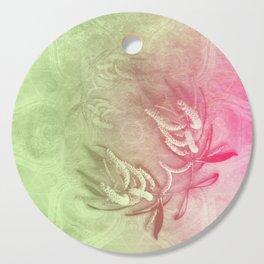 Pink and green wattle and kaleidoscope Cutting Board