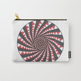 Red and Black Multi spiral Carry-All Pouch