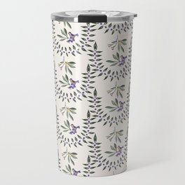 Natural Olive Leaf Berry Birds on Branch Travel Mug