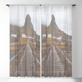Magical Autumn Mountain  Sheer Curtain