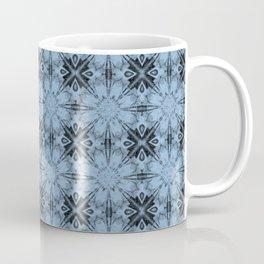 Airy Blue Floral Geometric Coffee Mug