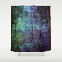 cracked Shower Curtains featuring cracked Earth by helsch photography