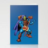 skeletor Stationery Cards featuring Laser Light Skeletor by CromMorc