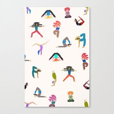 yoga lovers Canvas Print